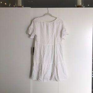White linen dress.